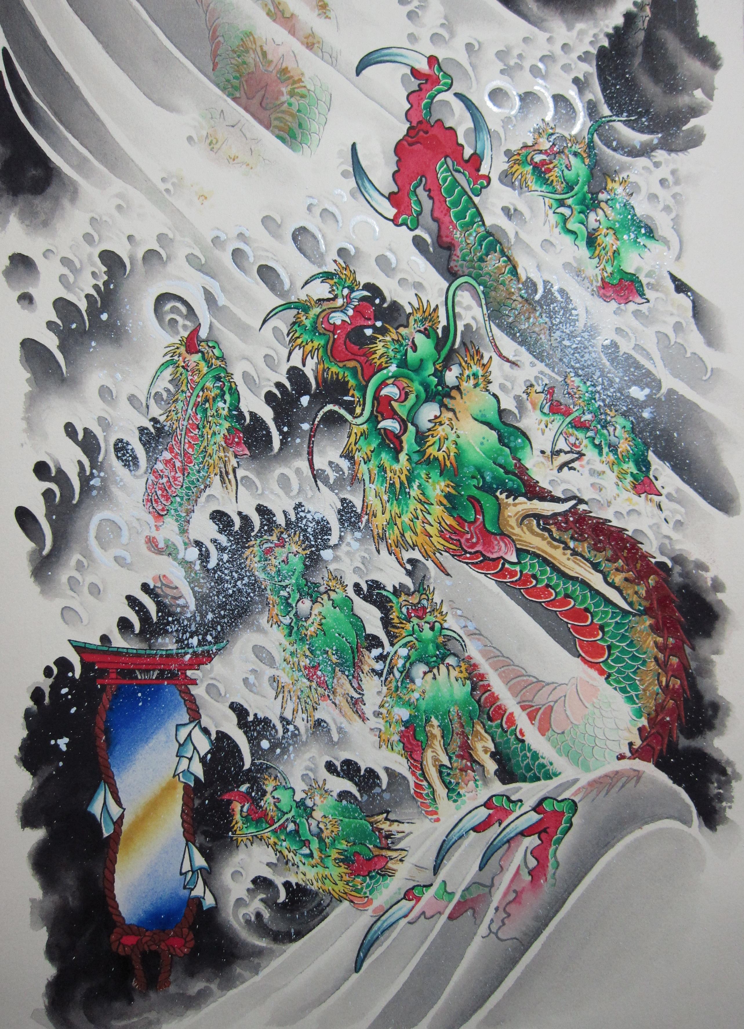Yamata no orochi tattoo